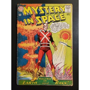 MYSTERY IN SPACE #82 (1963) ADAM STRANGE classic World War Earth cover low grd|