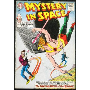 MYSTERY IN SPACE #87 VG ADAM STRANGE HAWKMAN DOUBLE FEATURE