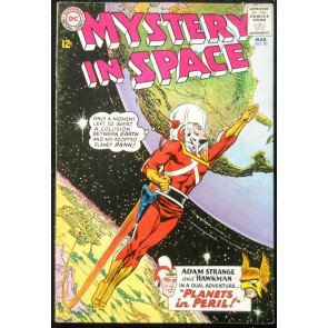 MYSTERY IN SPACE #90 VG+ ADAM STRANGE & HAWKMAN 1ST TEAM UP CLASSIC COVER
