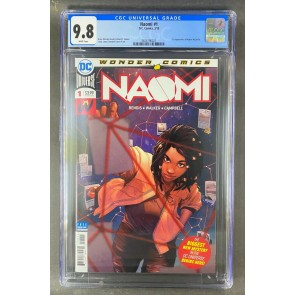 Naomi (2019) #1 CGC Graded 9.8 White Pages 1st App Naomi McDuffie (3824796021)