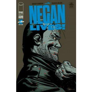Negan Lives! (2020) #1 VF/NM Charlie Adlard 2nd Print Cover Walking Dead Image