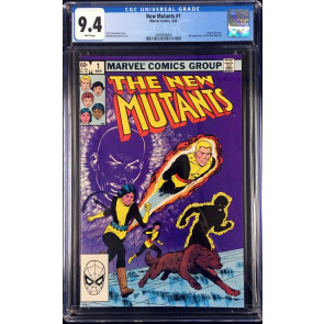 New Mutants (1983) #1 CGC 9.4 white pages 2nd appearance (2009094004)