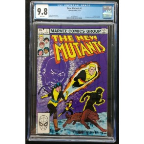 New Mutants (1983) #1 CGC 9.8 white pages 2nd appearance (2009094014)