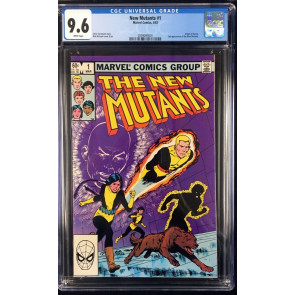 New Mutants (1983) #1 CGC 9.6 white pages 2nd appearance (2009094001)