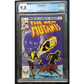 New Mutants (1983) #1 CGC 9.8 white pages 2nd appearance (2009094017)