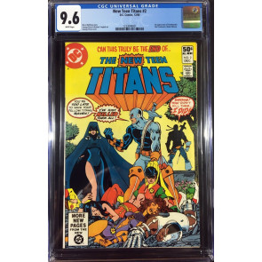 New Teen Titans (1980) #2 CGC 9.6 white pages 1st app Deathstroke (1233049001)