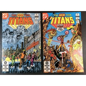 New Teen Titans (1980) #26 & 28 VF+ (8.5) 1st app Terra & 1st Cover app