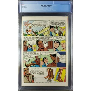 New Teen Titans 2 CGC 9.6 WHITE 1st App Deathstroke George Perez (3701794016) |