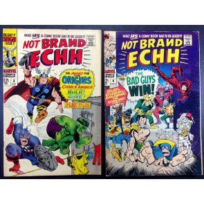 Not Brand Echh (1967) # 3 4 5 6 7 8 complete run of 6 comics Marvel sataire
