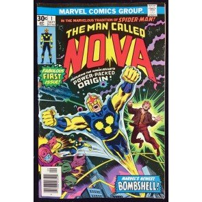 Nova (1976) #1 NM- (9.2) Origin & 1st app Nova
