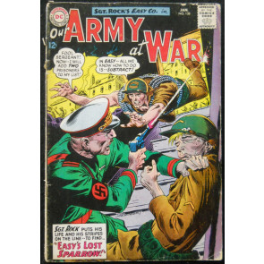 OUR ARMY OF WAR #138 VG- 1ST SPARROW