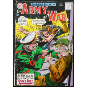 OUR ARMY OF WAR #138 VG 1ST SPARROW