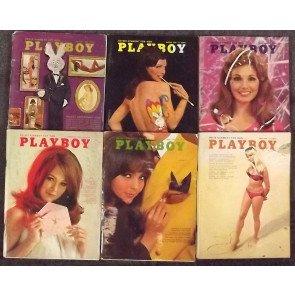 PLAYBOY MAGAZINE JANUARY - DECEMBER 1968 LOT OF 12