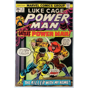 Power Man (1974) #21 FN/VF (7.0) Luke Cage Hero for Hire vs Power Man