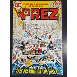 PREZ #1 (1973) FVF (7.0) DC - Joe Simon 1ST APP/ORIGIN OF PREZ|
