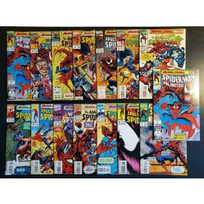 PRISTINE MAXIMUM CARNAGE COMPLETE SET 1-14 SPIDER MAN UNLIMITED 1 x2 NM 9.2-9.6|