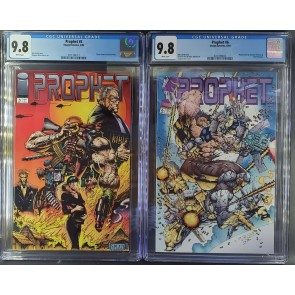 PROPHET #5 #6 IMAGE CGC 9.8 WHITE 1ST STEPHEN PLATT ART AFTER MOON KNIGHT 55-60|