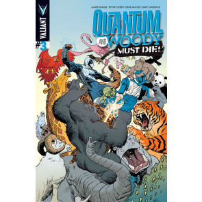 QUANTUM AND WOODY: MUST DIE (2014) #3 VF/NM COVER A VALIANT COMICS