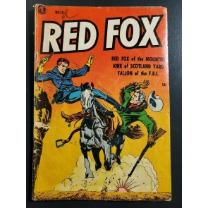 "Red Fox #15 (1954) Magazine Enterprises G+ (2.5) ""FALLON OF THE F.B.I."" LB Cole