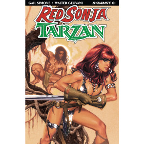 Red Sonja/Tarzan (2018) #1 VF/NM Adam Hughes Cover Dynamite