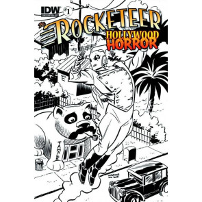 ROCKETEER: HOLLYWOOD HORROR #1 NM SUBSCRIPTIONS VARIANT COVER IDW
