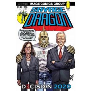 Savage Dragon (1993) #252 VF/NM Joe Biden Kamala Harris 2nd Printing Erik Larsen
