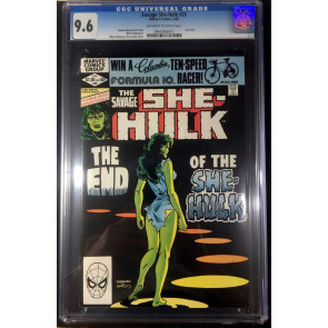 Savage She-Hulk (1980) #25 CGC 9.6 off-white to white last issue (0950093015)