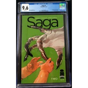 Saga (2012) #2 CGC 9.6 1st print Brian K Vaughan Fiona Staples (2016786003)