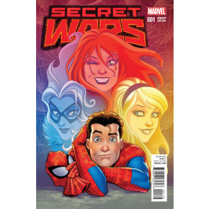 SECRET WARS (2015) #1 OF 8 VF/NM CONNER VARIANT COVER + FREE COMIC BOOK DAY #0