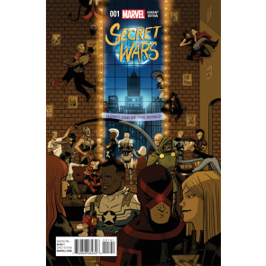 SECRET WARS (2015) #1 OF 8 VF/NM PARTY VARIANT COVER + FREE COMIC BOOK DAY #0