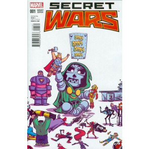 SECRET WARS (2015) #1 OF 8 VF/NM YOUNG VARIANT COVER + FREE COMIC BOOK DAY #0