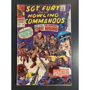 Sgt. Fury #44 (1967) VG- 3.5 Howlers' 1st Mission, 1st Severin cover & story|
