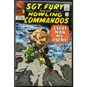 SGT. FURY AND HIS HOWLING COMMANDOS #25 VF- RED SKULL APP