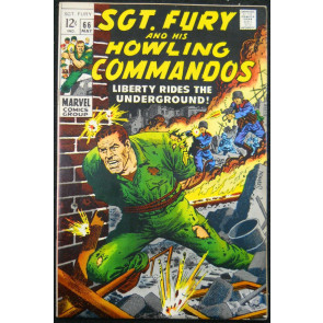 SGT. FURY AND HIS HOWLING COMMANDOS #66 VF