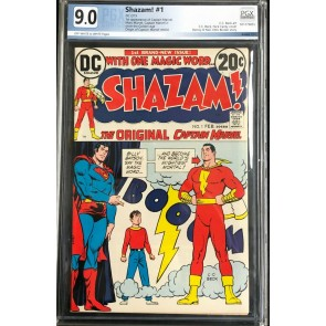 Shazam (1973) #1 PGX Graded 9.0 off-white to white pages