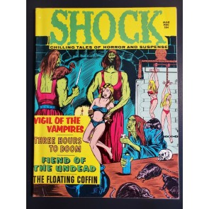 Shock Vol. 3 #1 VF (8.0) 1971 Stanley Pub Vampires! Bondage cover! White Pages|