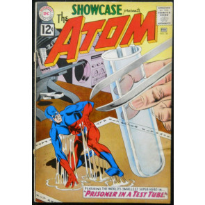 SHOWCASE #36 GD/VG THE ATOM BY GIL KANE 3RD APPEARANCE