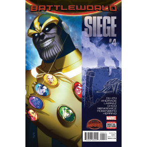 SIEGE (2015) #4 VF+ (8.5) SECRET WARS BATTLEWORLD Thanos cover
