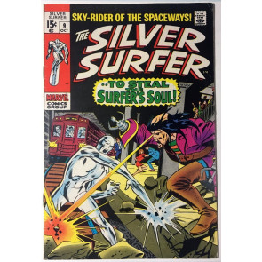 Silver Surfer (1968) #9 FN+ (6.5) vs Ghost