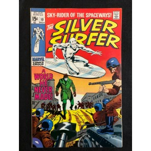 Silver Surfer (1968) #10 FN/VF (7.0) Shalla Bal travels to Earth to find Surfer