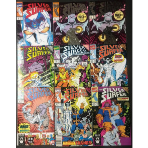 Silver Surfer (1987) #49-75 run of 27 books Infinity Gauntlet & War cross overs