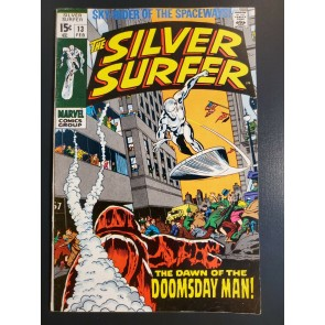 SILVER SURFER #13 (1970) VF (8.0) THE DAWN OF THE DOOMSDAY MAN 1ST DOOMSDAY MAN|