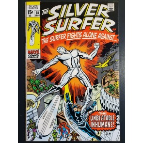 SILVER SURFER #18 (1970) VF- (7.5) VS. INHUMANS JACK KIRBY LAST ISSUE |