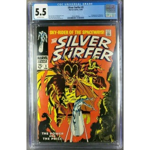 Silver Surfer #3 (1968) CGC 5.5 F- OW 1st appearance of Mephisto! |