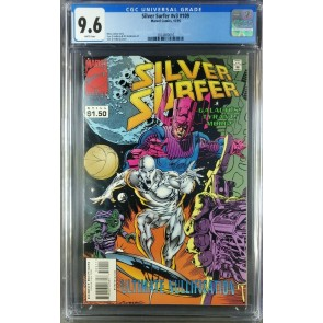 Silver Surfer #109 (1995) CGC 9.6 NM+ WP Galactus app HTF late issue 3824800016|