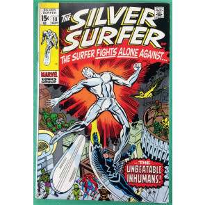 Silver Surfer (1968) #18 FN+ (6.5) vs The Inhumans last issue