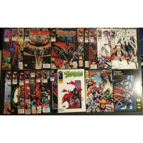 Spawn #1 & up most UPC early #s comic lot #1-18, 21, +Wildcats/Batman #1 NM-9.2|