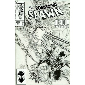 Spawn (1992) #298 VF/NM-NM Todd McFarlane Black & White Cover C Variant
