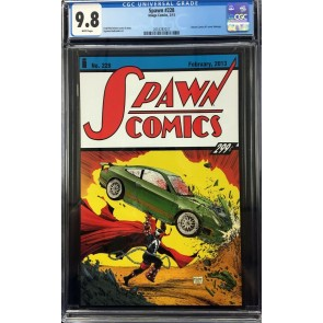 Spawn (1992) #228 CGC 9.8 Action Comics #1 cover homage (2016787017)