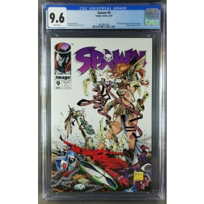 Spawn #9 (1993) CGC 9.6 NM+ WP 1st Appearance of Angela (3821091004)|